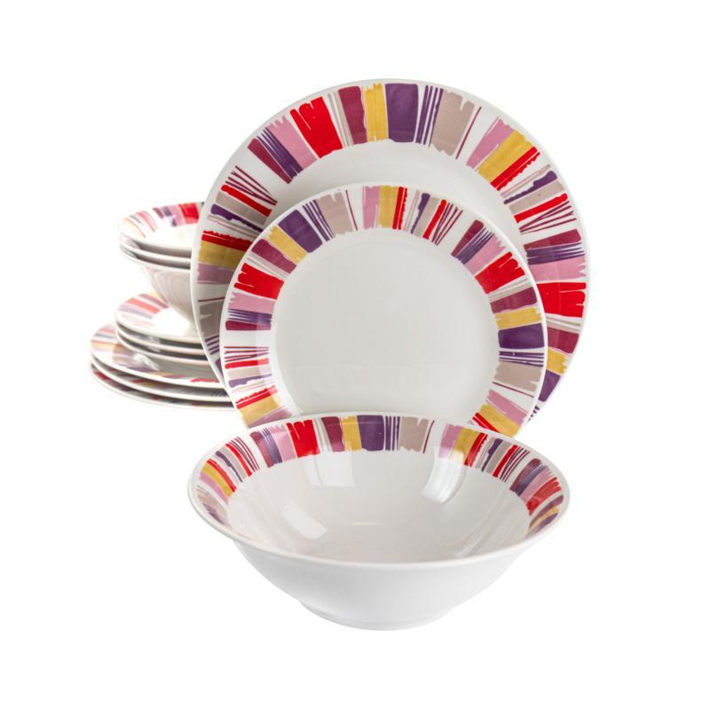Gibson Home Orleans 12-Pc Ceramic Dinnerware Set