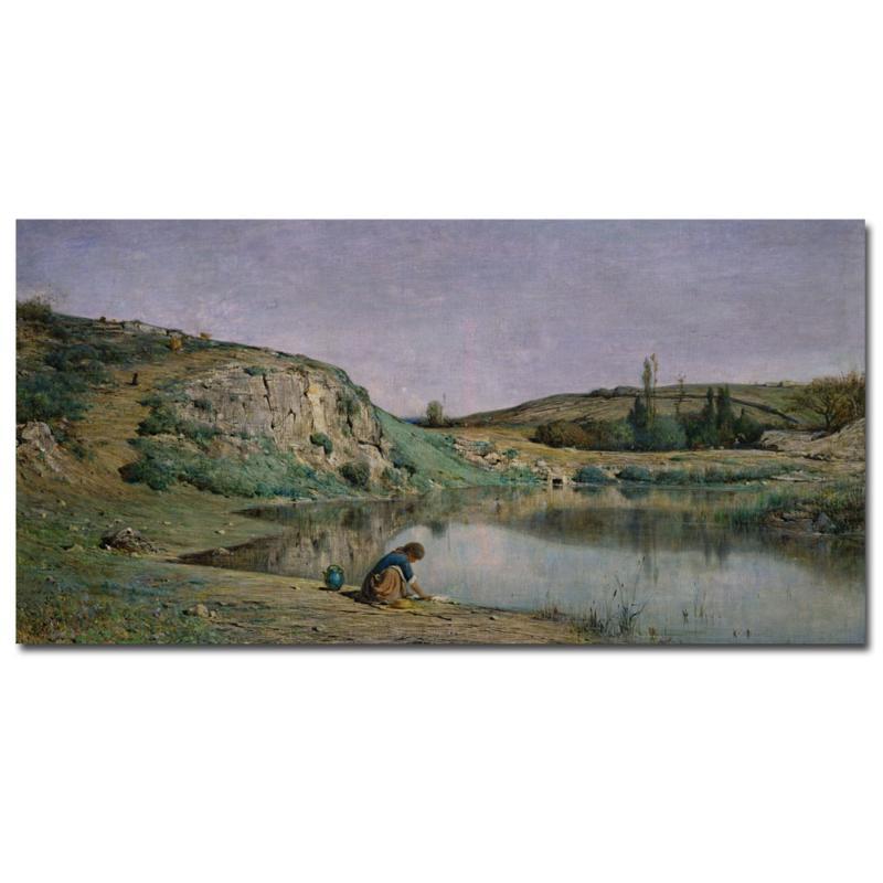 "Giclee Print -  Shore of Lake Bourget 24"" x 12"""