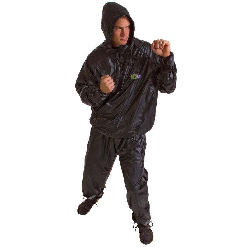 GoFit GF-TTH-S M 2-Piece Hooded Sweat Suit - S/M