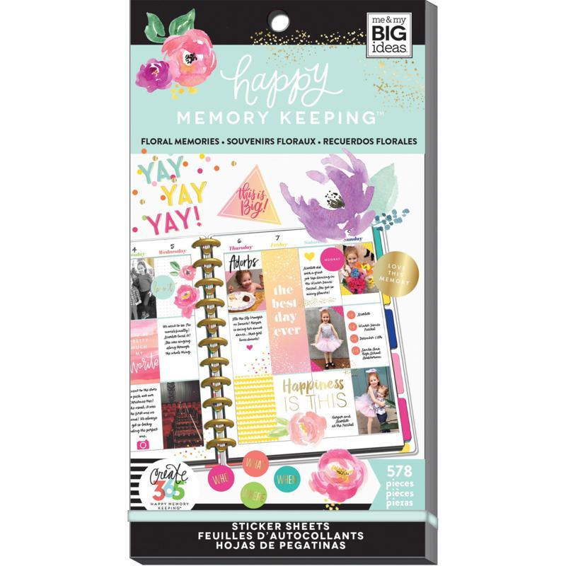 Happy Planner Sticker Value Pack - Floral Memories 578-pack