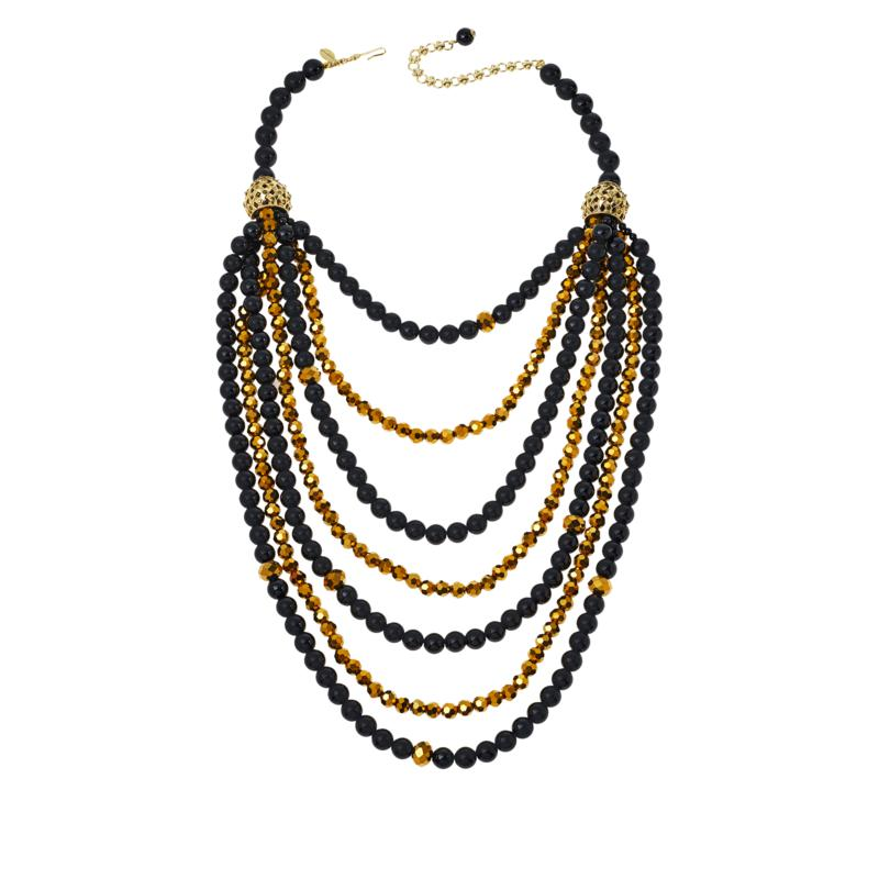 """Heidi Daus 19"""" Crystal-Accented Multi-Row Beaded Necklace"""