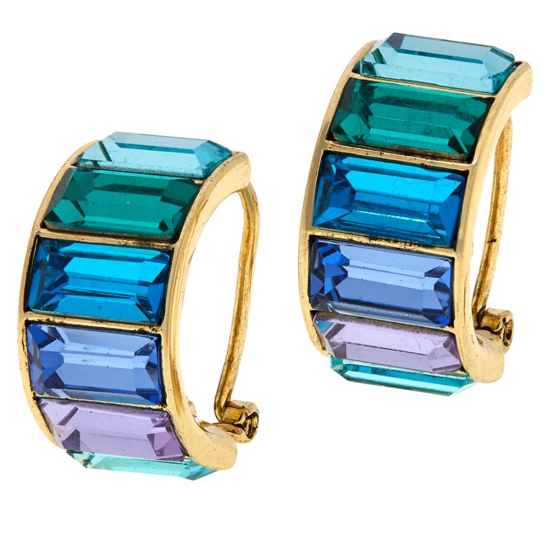 Heidi Daus Beautiful Baguette Hoop Earrings