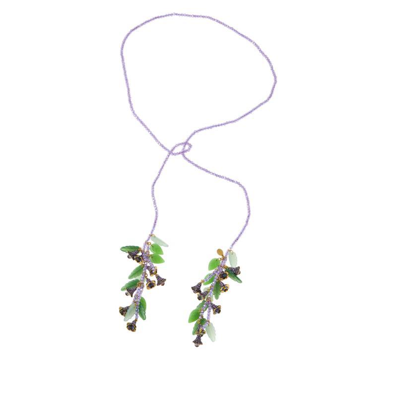 "Heidi Daus ""Floral Bells"" 48"" Beaded Lariat Necklace"