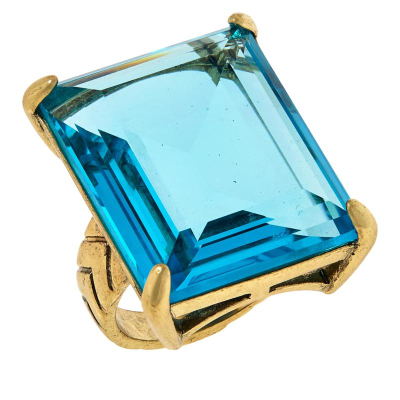 "Heidi Daus ""Hot Rocks"" Solitaire Cocktail Ring"