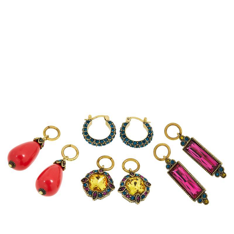 "Heidi Daus ""Sparkling Trinity"" Crystal Earrings Set"