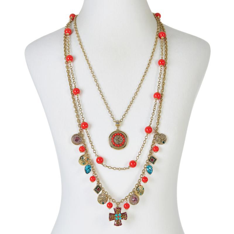 """Heidi Daus """"Summer Swag"""" 3-piece Chain-Link Necklace Set"""