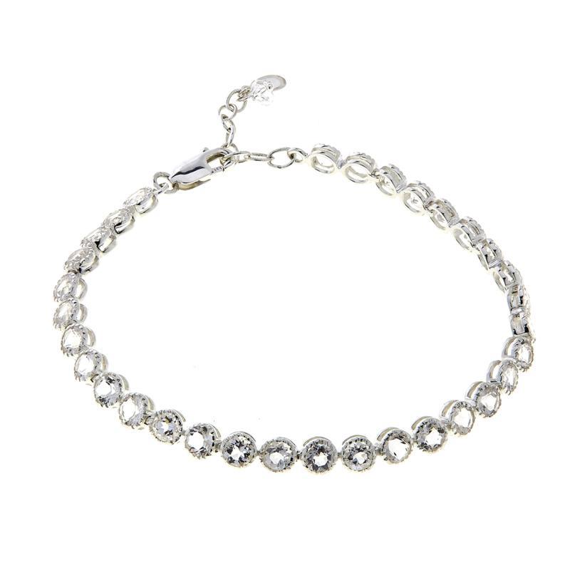 "Herkimer Mines 7.57ctw Herkimer ""Diamond"" Quartz 7-3/8"" Line Bracelet"