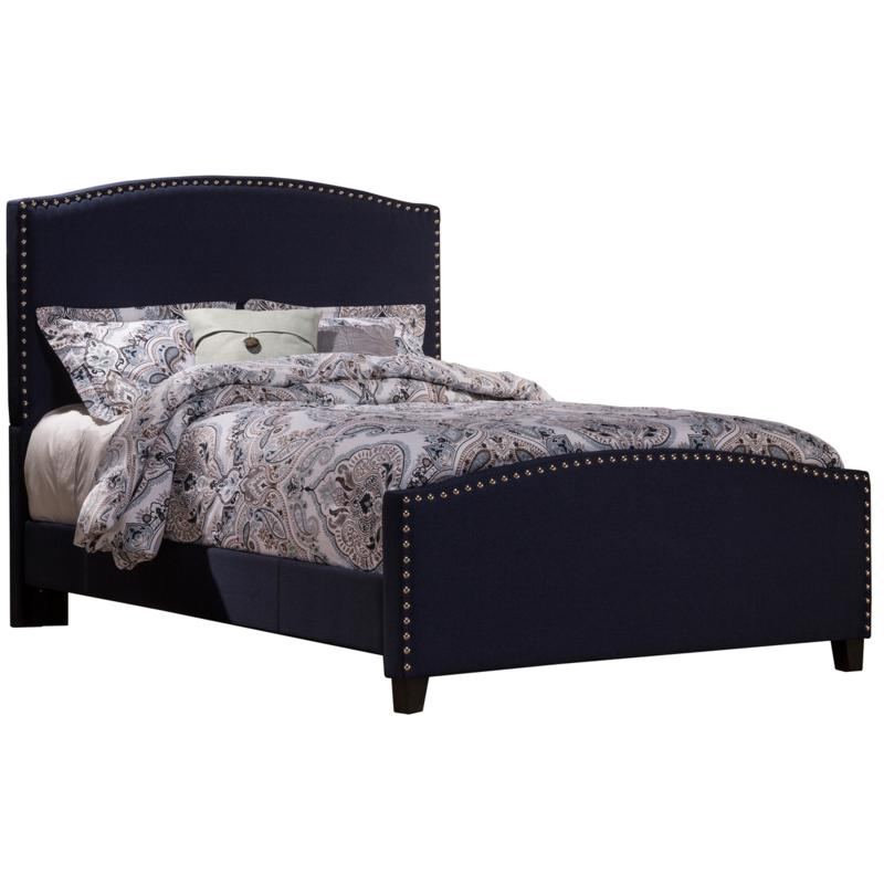 Hillsdale Kerstein Full Bed with Rails - Navy Linen