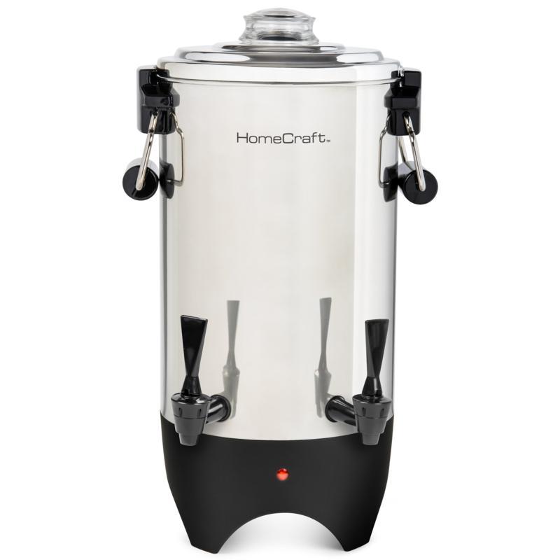 HomeCraft Quick-Brewing 1000-Watt Automatic 45-Cup Coffee Urn