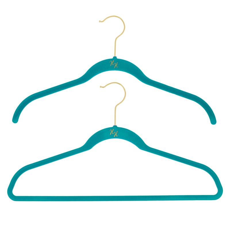 Huggable Hangers 40-pack of Shirt & Suit Hangers with Brass Hooks