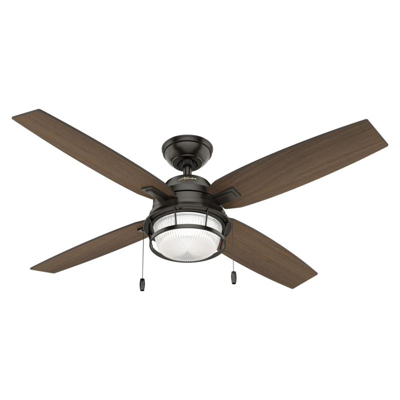 """Hunter 52"""" Ocala Ceiling Fan with LED Light Kit and Pull Chain"""