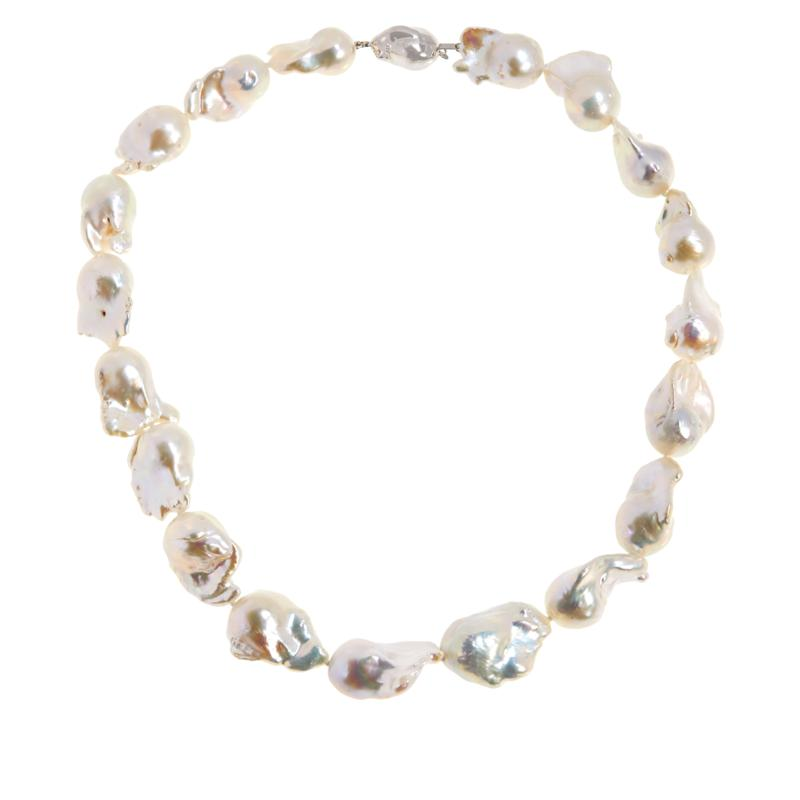 Imperial Pearls 13-17mm White Cultured Baroque Pearl Necklace