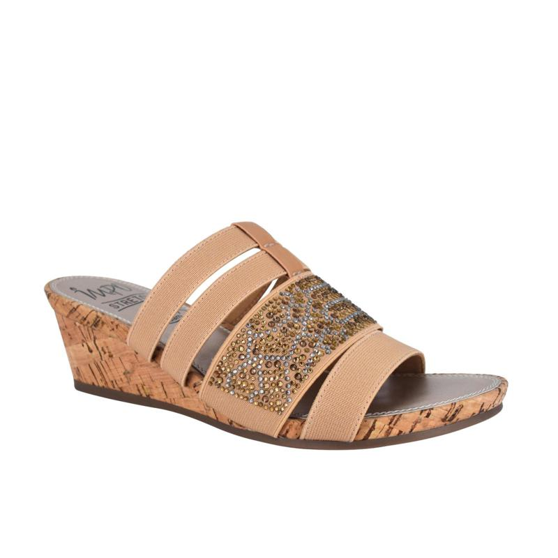 Impo Emberly Stretch Wedge Sandal with Memory Foam