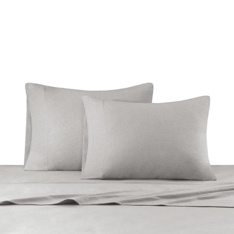 INK+IVY Heathered Cotton Jersey Gray Sheet Set - Twin