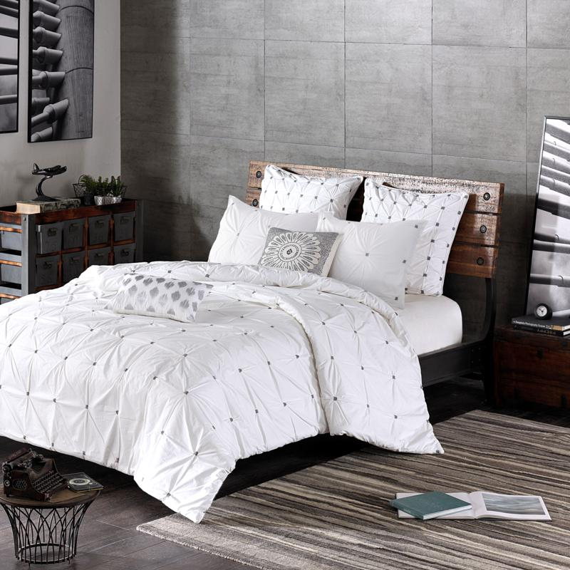 INK+IVY Masie Cotton 3pc Comforter Mini Set - White - King/Cal King