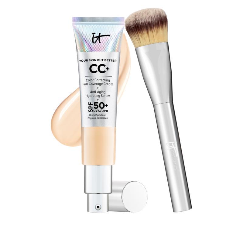 IT Cosmetics Light Full Coverage SPF 50 CC Cream with Plush Brush