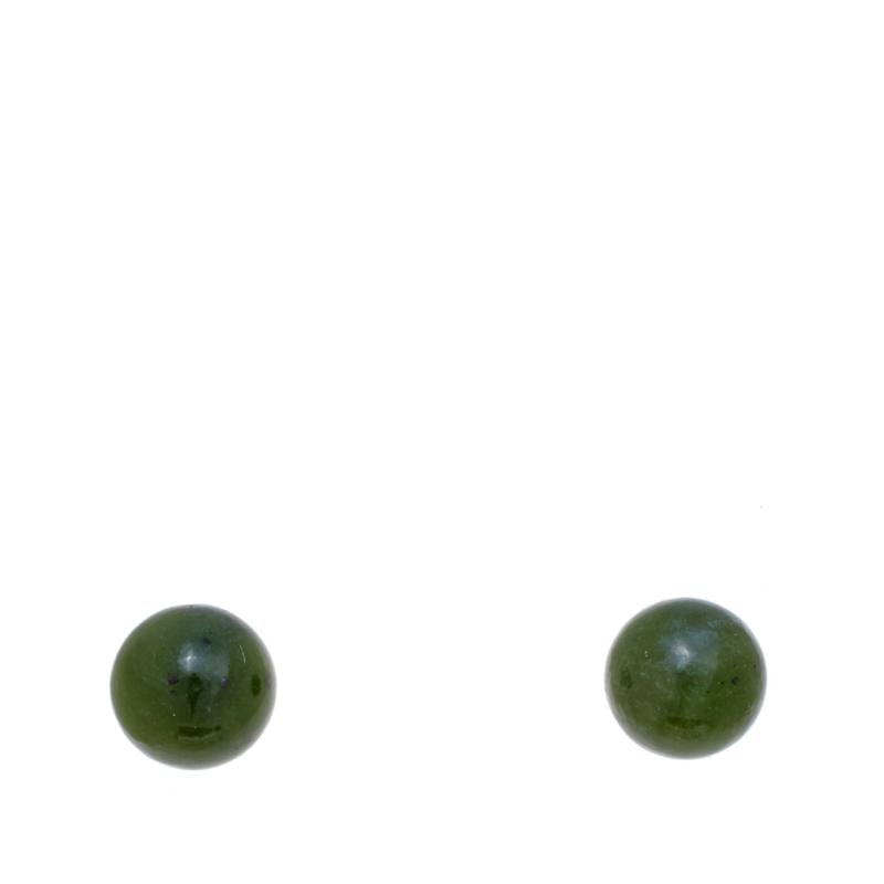 Jade of Yesteryear Nephrite Jade Stud Earrings