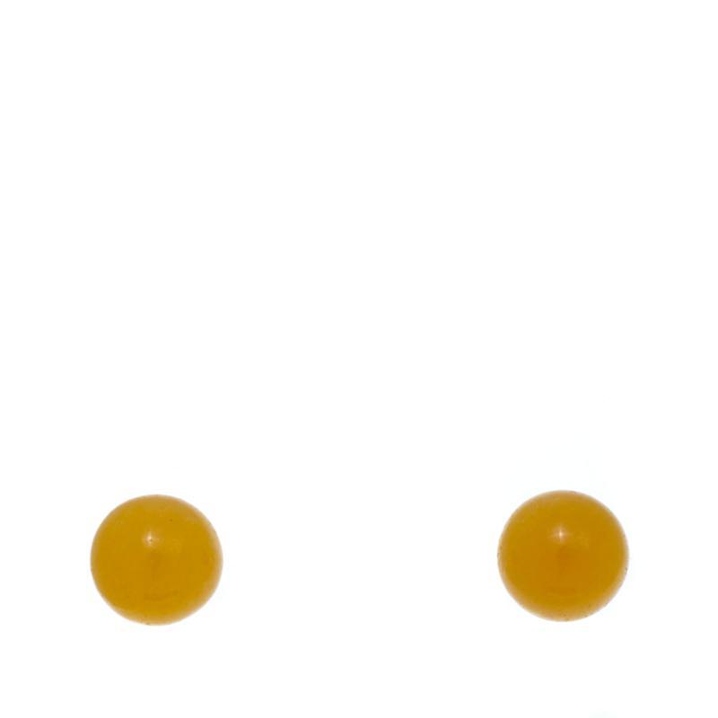 Jade of Yesteryear Yellow Jade Stud Earrings
