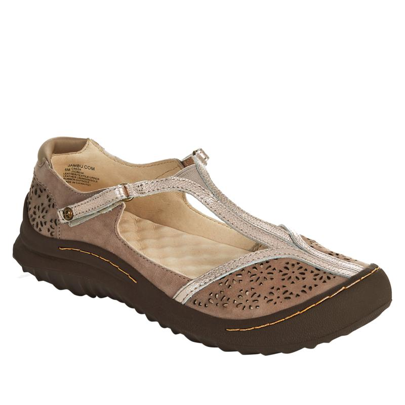 Jambu Originals Creek Casual Perforated Suede T-Strap Shoe