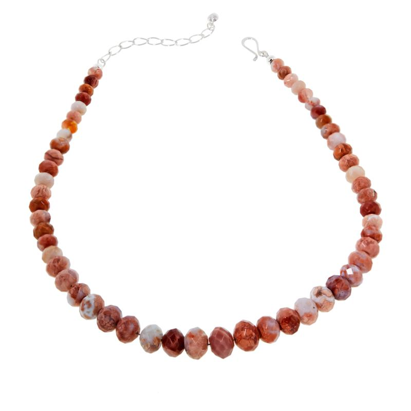 "Jay King 18-1/4"" Brecciated Chalcedony  Beaded Necklace"