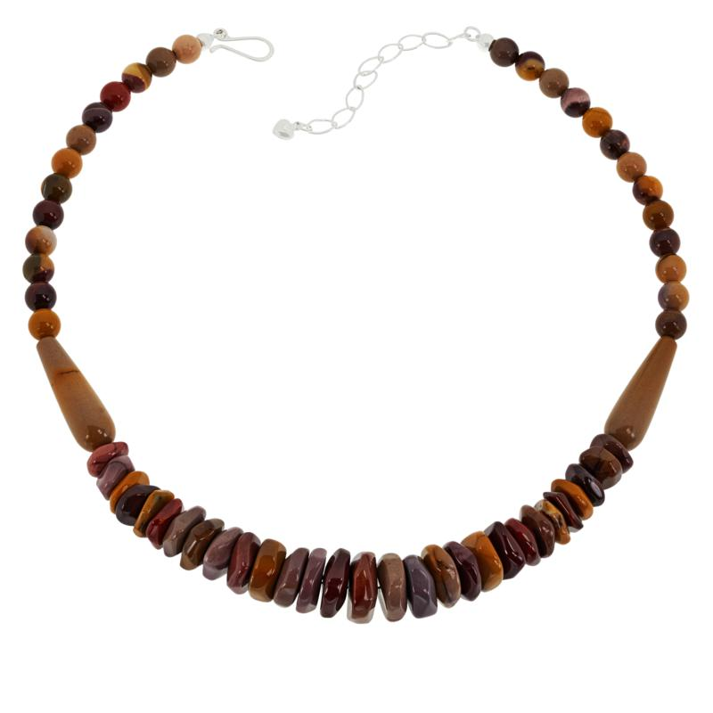 """Jay King 18"""" Sterling Silver Mookite Beaded Necklace"""