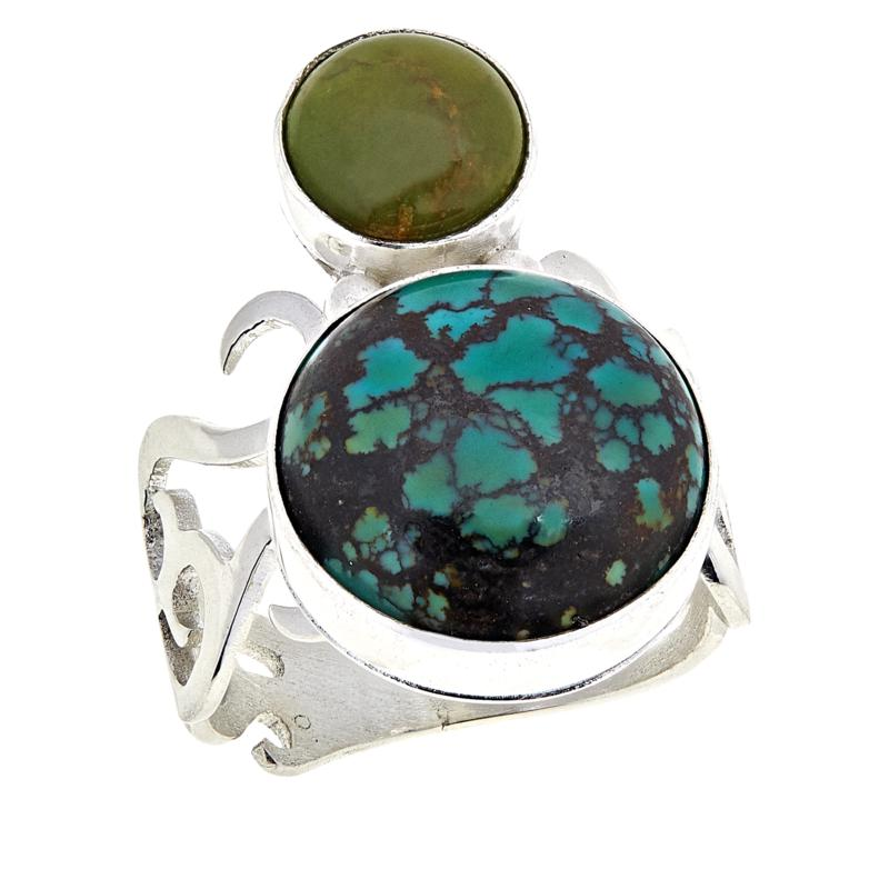 Jay King 2-Stone Hubei Turquoise Sterling Silver Ring