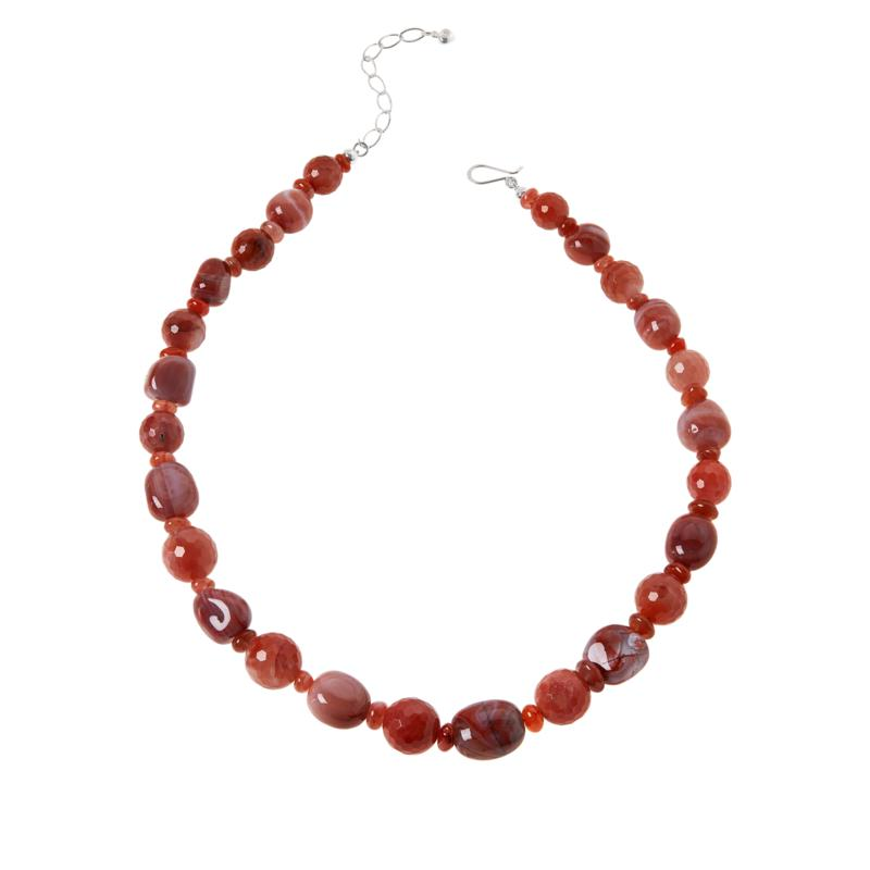 """Jay King 20"""" Picante Agate Bead Necklace"""