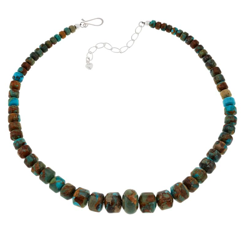Jay King Compressed Kingman Turquoise Bead Necklace