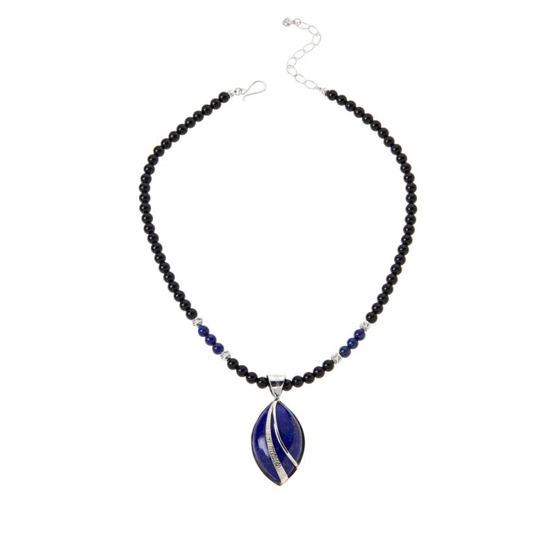 Jay King Gallery Collection Marquise-Shape Lapis Pendant with Necklace