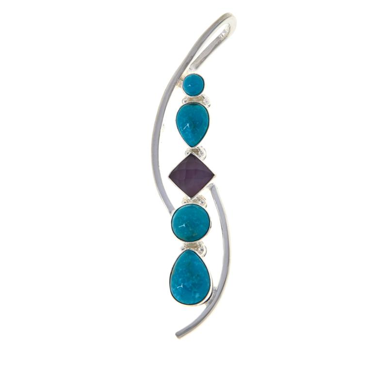 Jay King Gallery Collection Turquoise and Amethyst Pendant