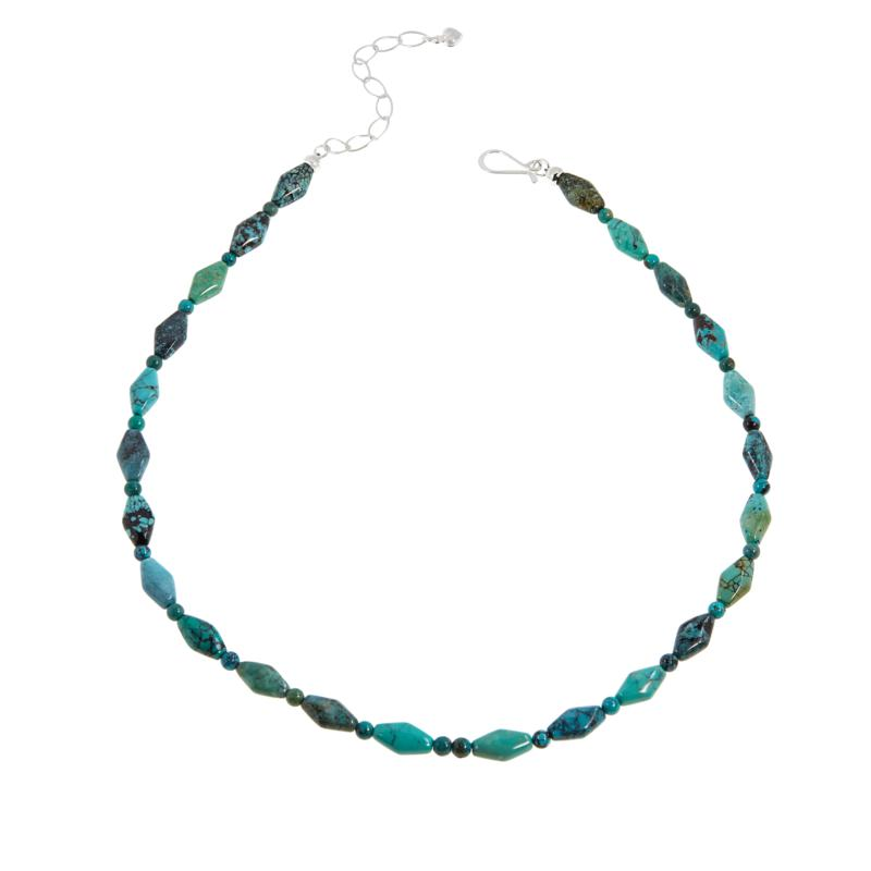 Jay King Hubei Turquoise Freeform and Round Bead Necklace