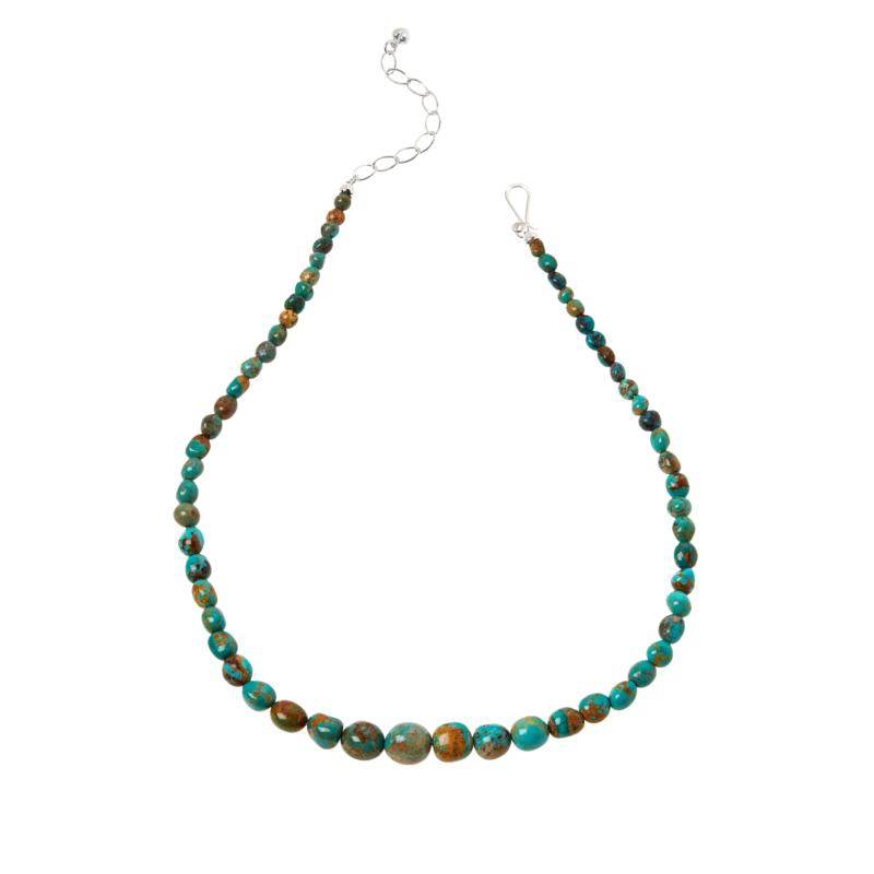 Jay King Multi-Color Golden Dragon Mountain Turquoise Bead Necklace