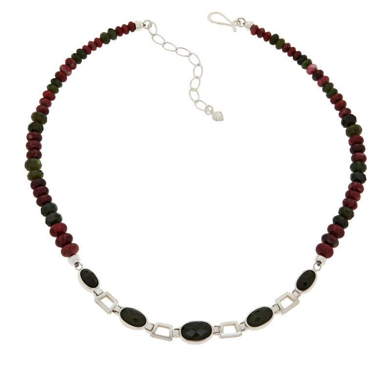 Jay King Multi-Gemstone Oval Station Reversible Necklace