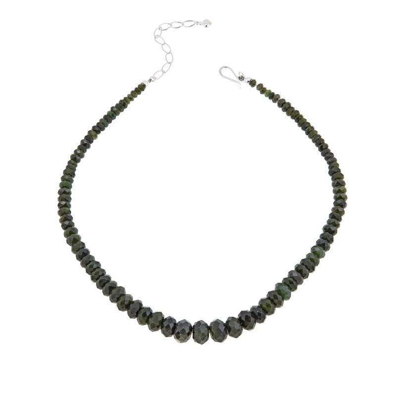 """Jay King Nephrite Jade Sterling Silver 18"""" Necklace"""