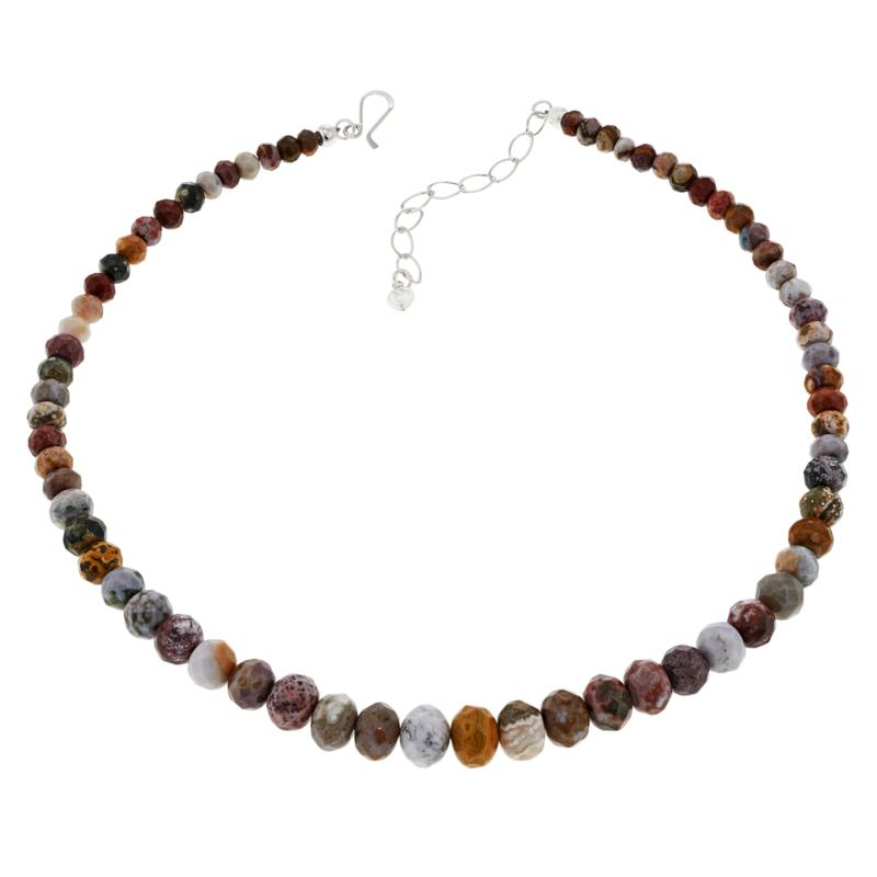 Jay King Orbicular Chalcedony Beaded Sterling Silver Necklace