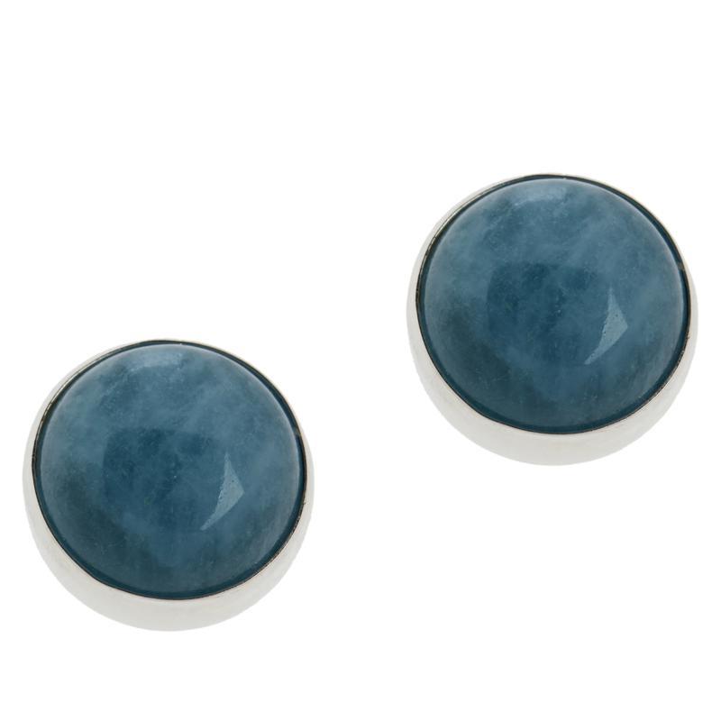 Jay King Sterling Silver Aquamarine Stud Earrings