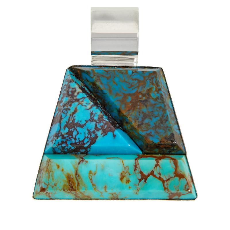 Jay King Sterling Silver Azure Peaks Turquoise Geometric Pendant