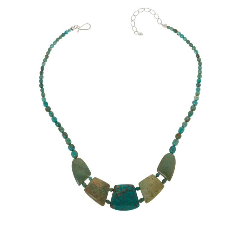 Jay King Sterling Silver Azure Peaks Turquoise Necklace