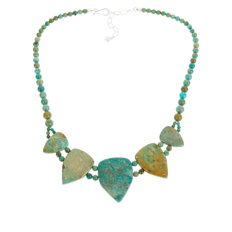 Jay King Sterling Silver Azure Peaks Turquoise Station Necklace