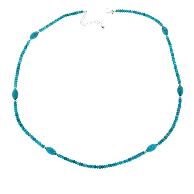"Jay King Sterling Silver Beaded Gemstone 32"" Necklace"
