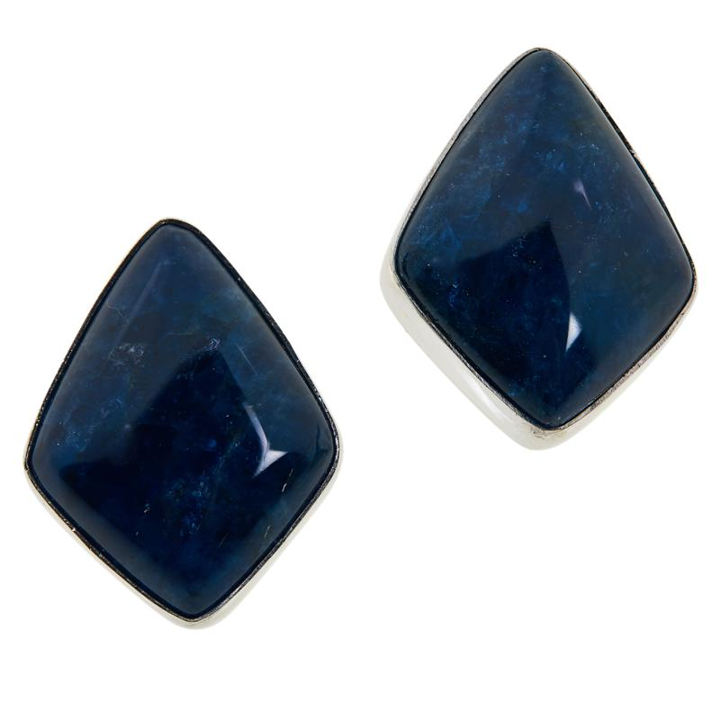 Jay King Sterling Silver Blue Apatite Stud Earrings