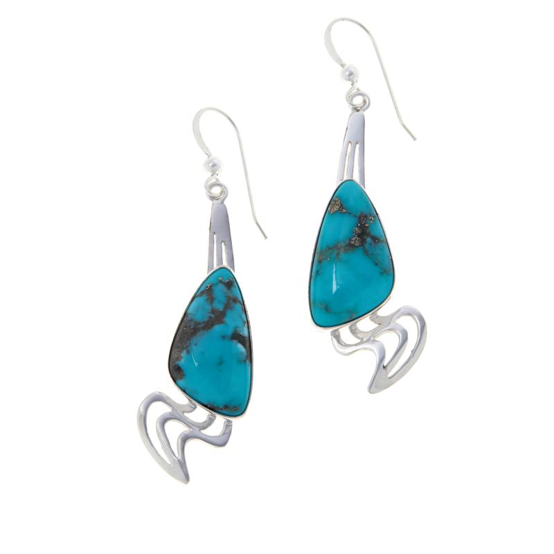 Jay King Sterling Silver Campitos Turquoise Earrings