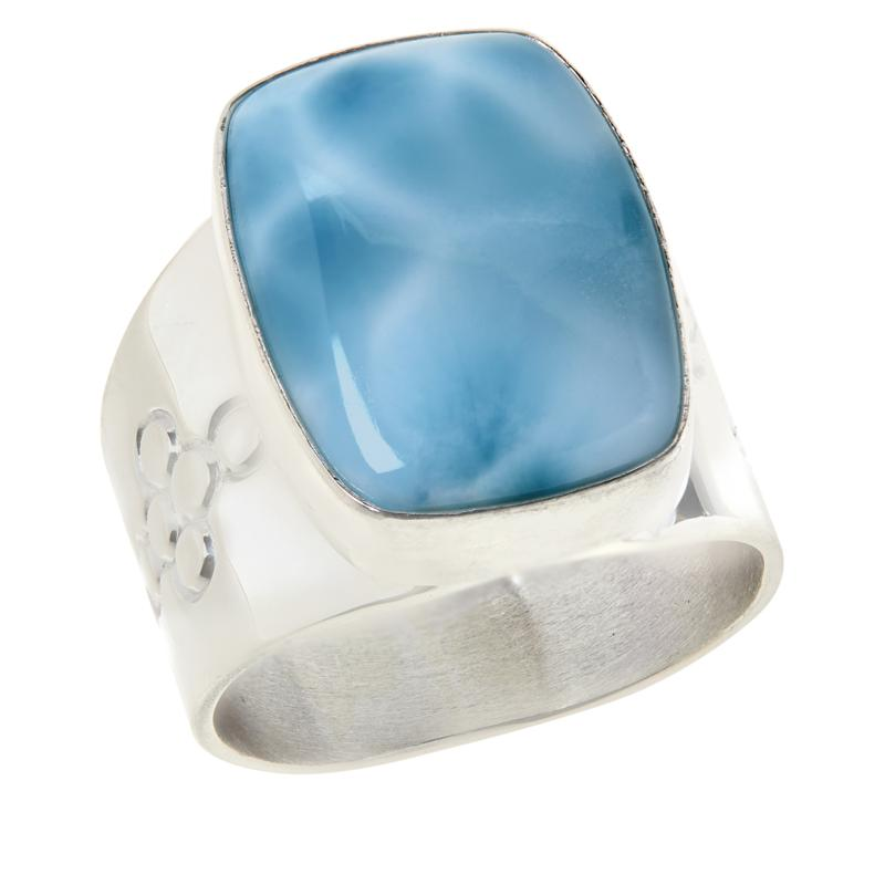 Jay King Sterling Silver Cushion-Cut Larimar Ring