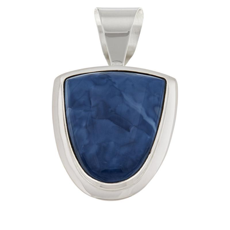 Jay King Sterling Silver Freeform Dream Blue Opal Pendant