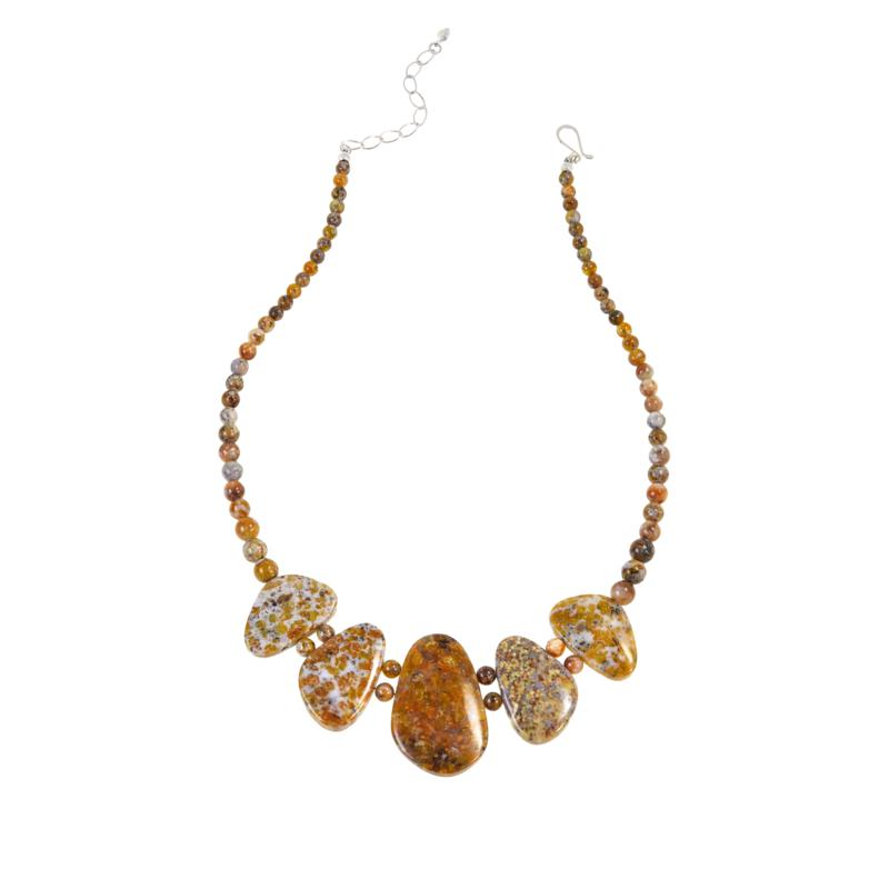 Jay King Sterling Silver Golden Jelly Opal Necklace