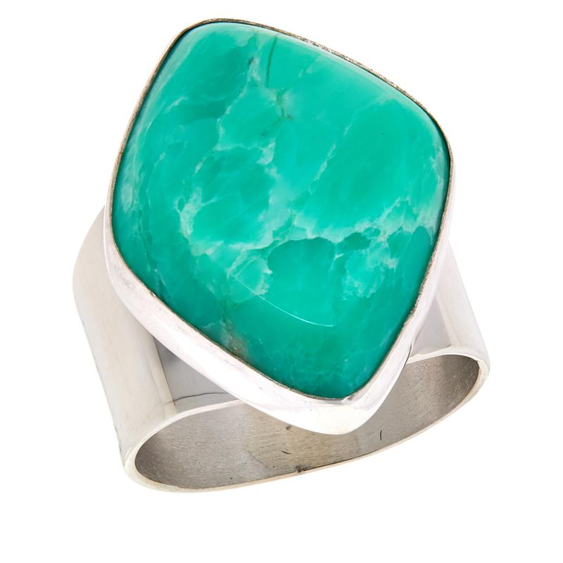 Jay King Sterling Silver Green Opal Ring