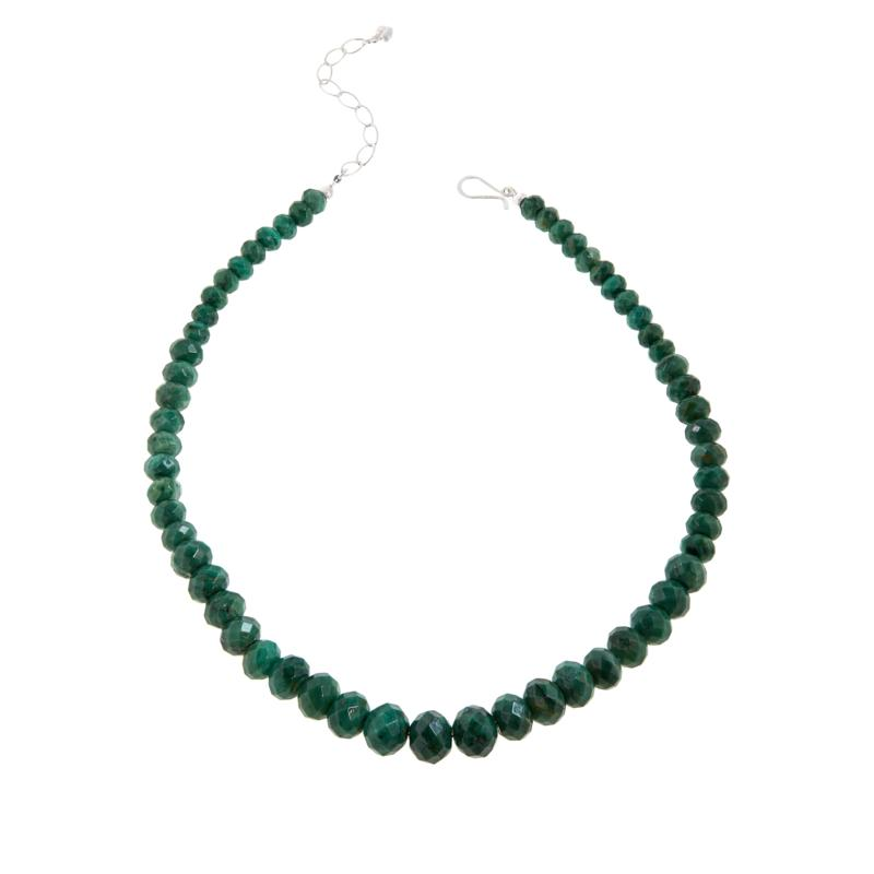 Jay King Sterling Silver Green Quartz Beaded Necklace