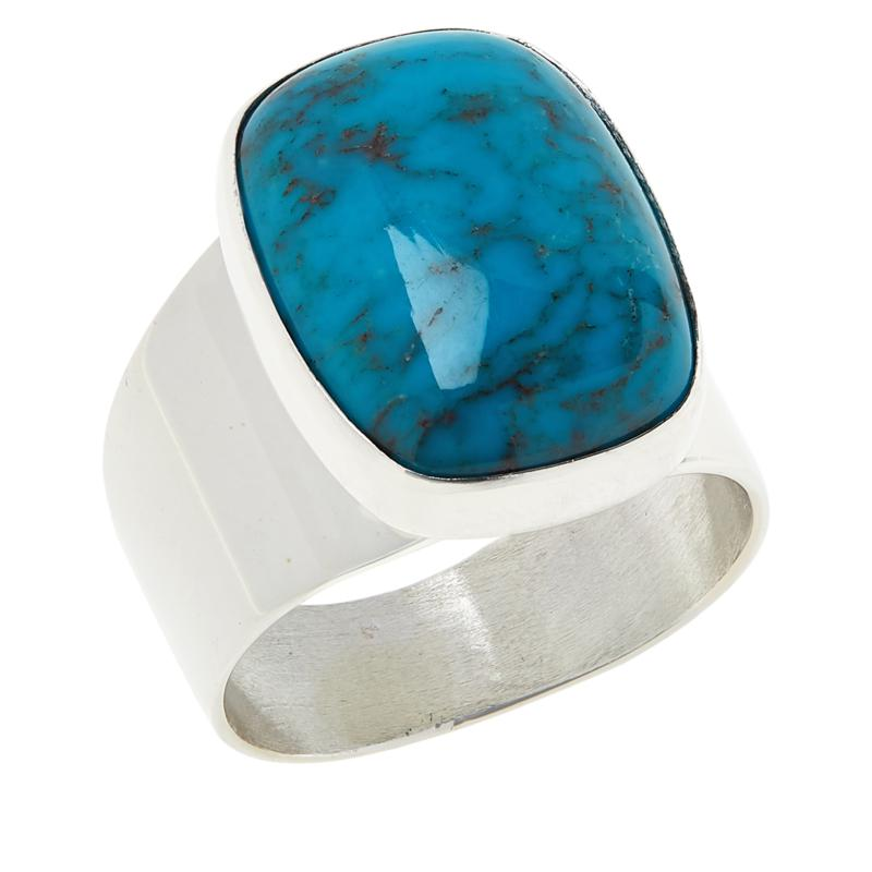 Jay King Sterling Silver Iron Mine Turquoise Ring
