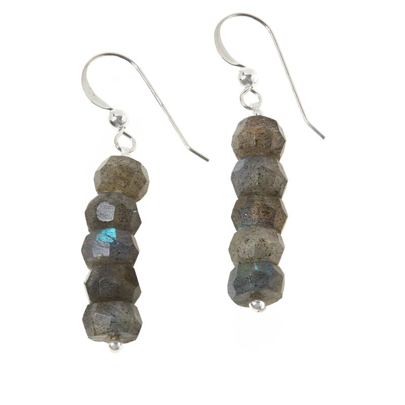 Jay King Sterling Silver Labradorite Bead Earrings