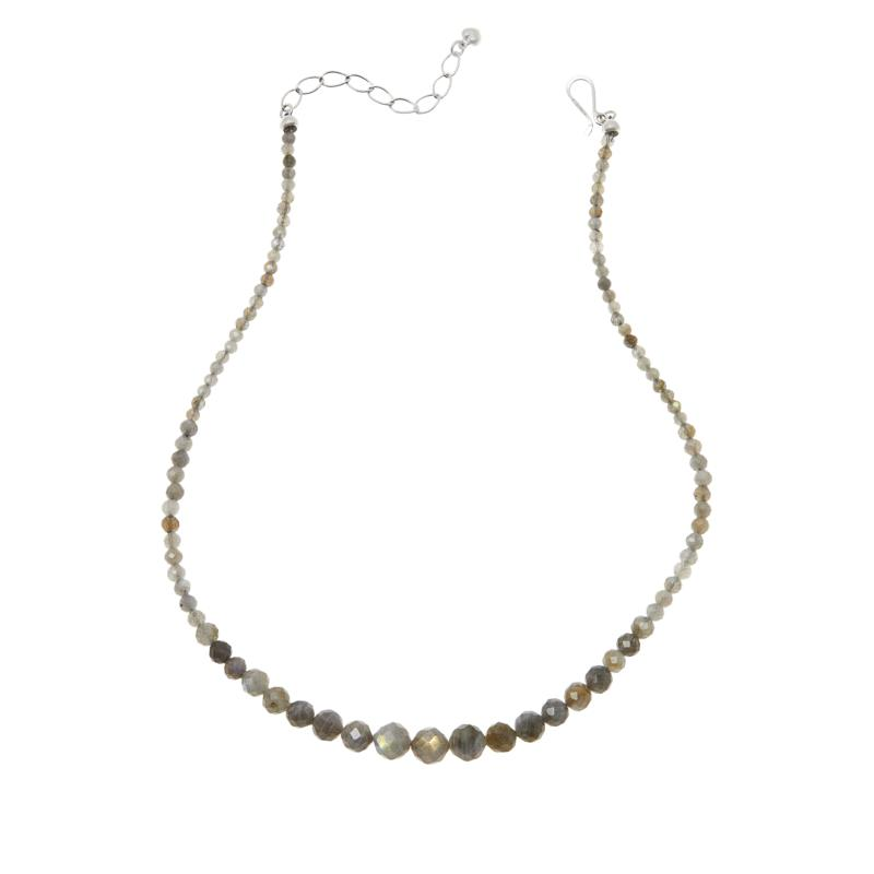 Jay King Sterling Silver Labradorite Graduated Bead Necklace